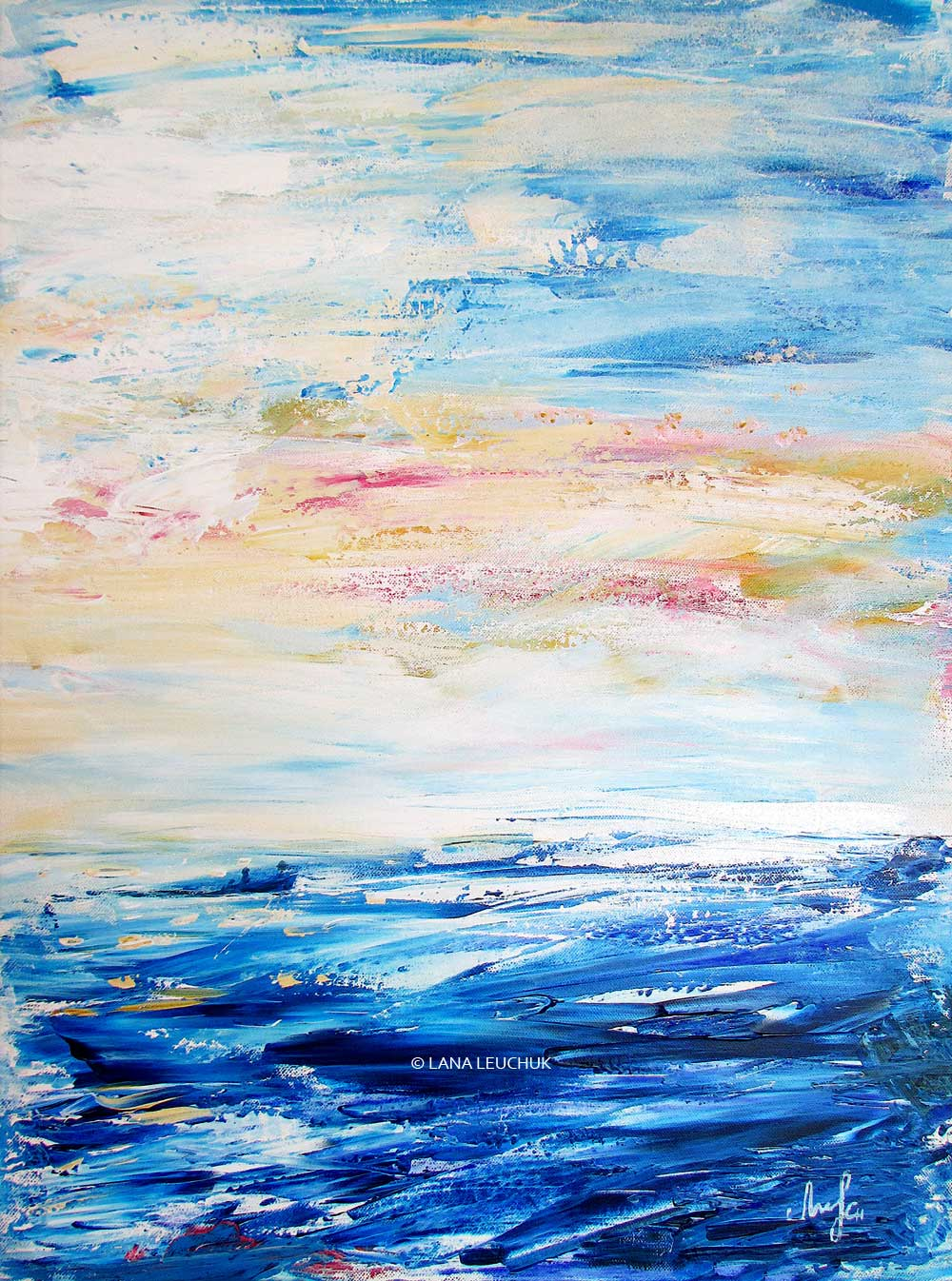 Cooling-dip-in-the-archipelago-art-by-Lana-Leuchuk-acrylic-painting