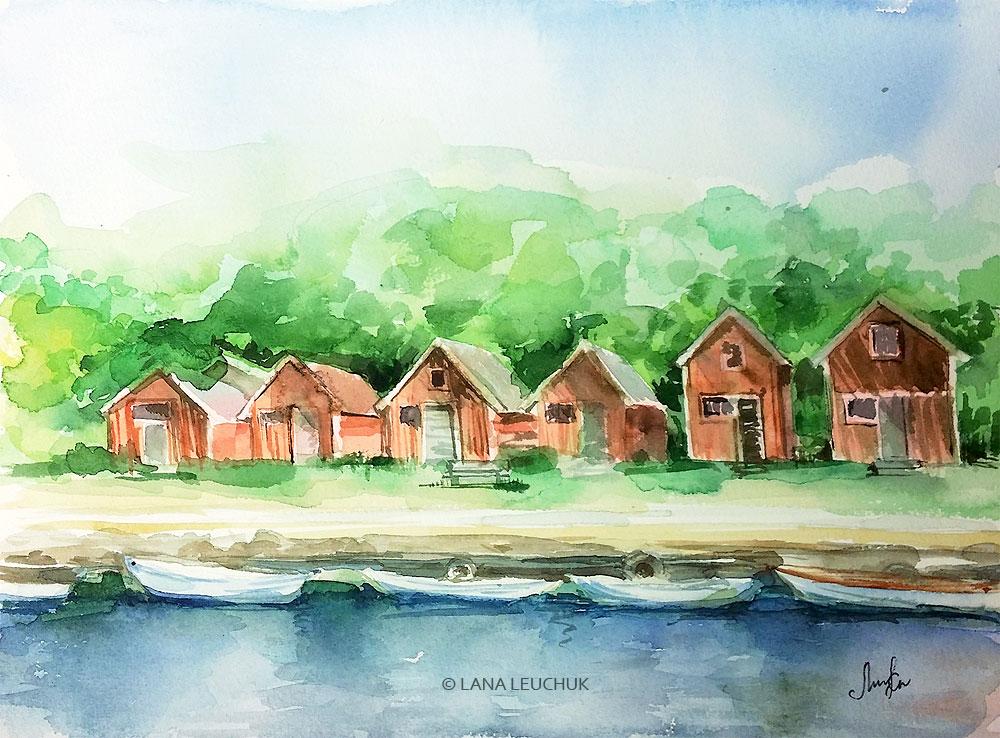 Swedish-summer-art-by-Lana-Leuchuk-watercolor-painting