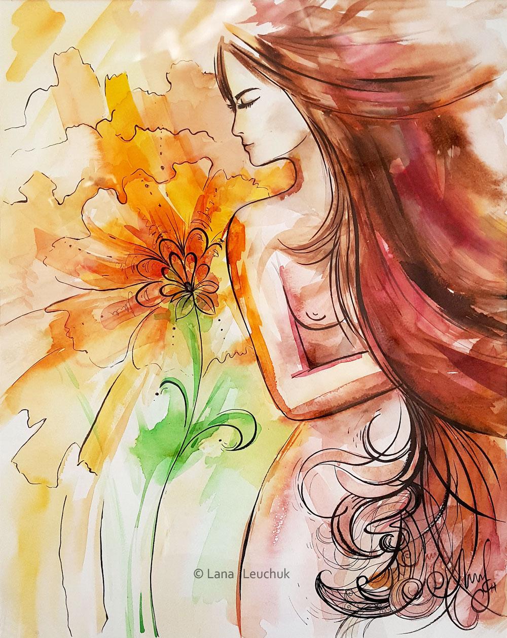 art-by-Lanagraphic-Femininity-mixed-media