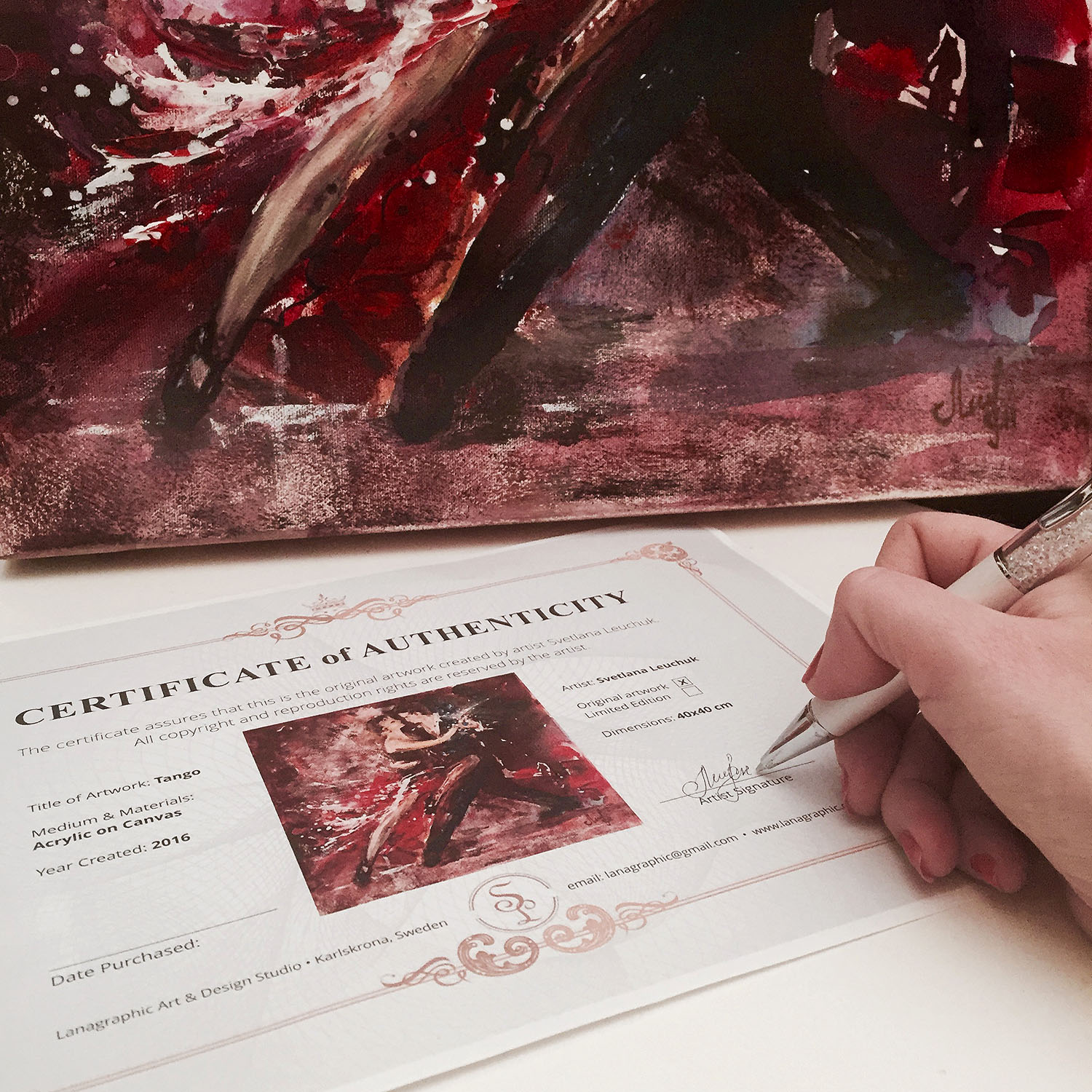 artist Lana Leuchuk-certificate-of-authenticity-sign