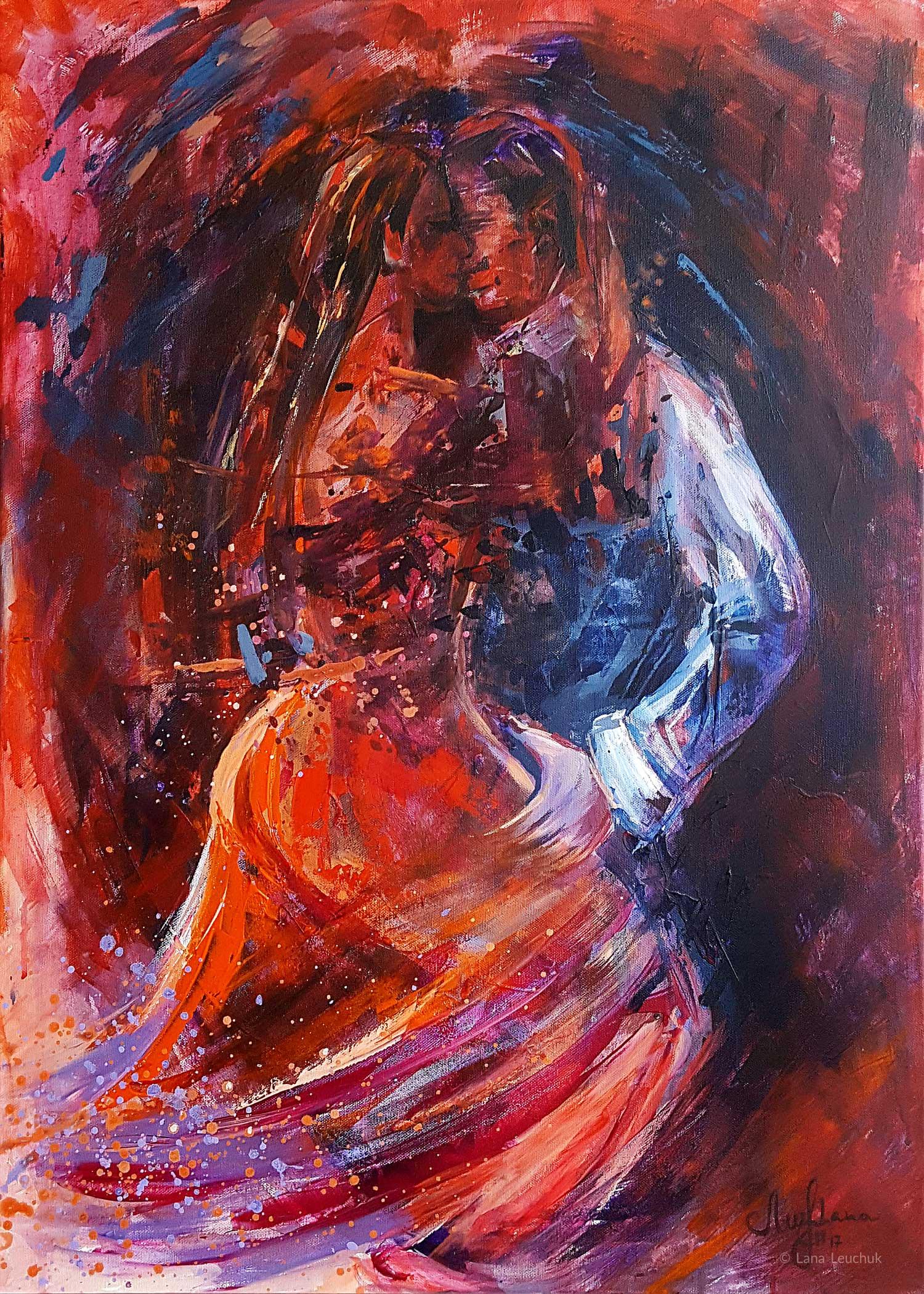 artwork-Life-is-a-Dance-acrylic-on-canvas-LANA-LEUCHUK-2017
