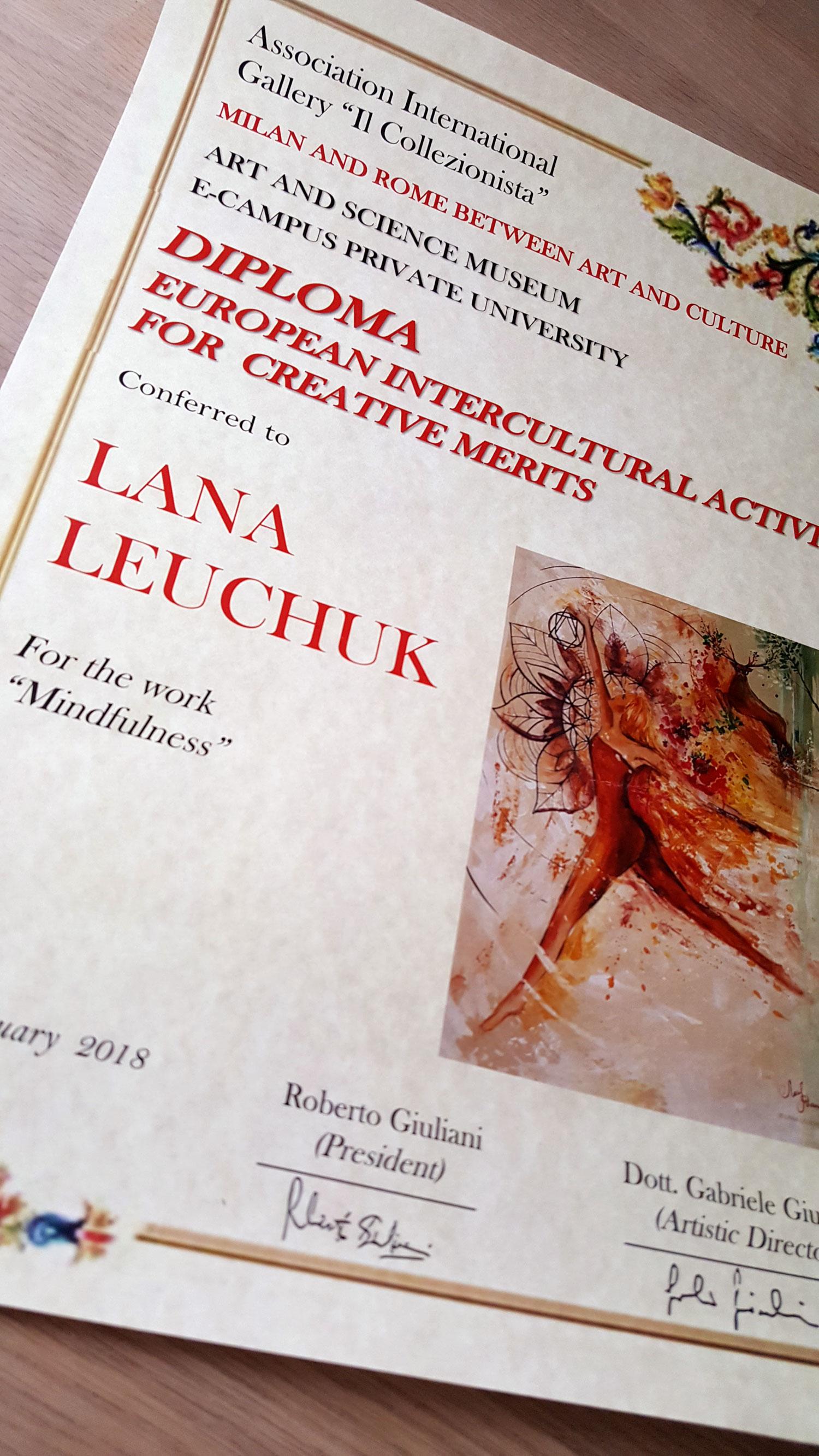 diploma-gallery-rome-artist-lana-leuchuk