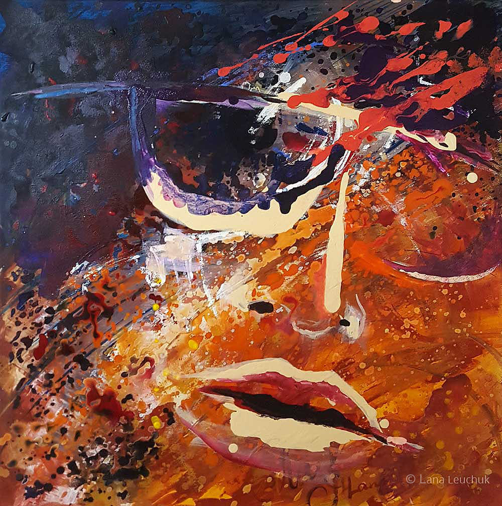 art by Lana-Leuchuk-loose mind-acrylic-painting