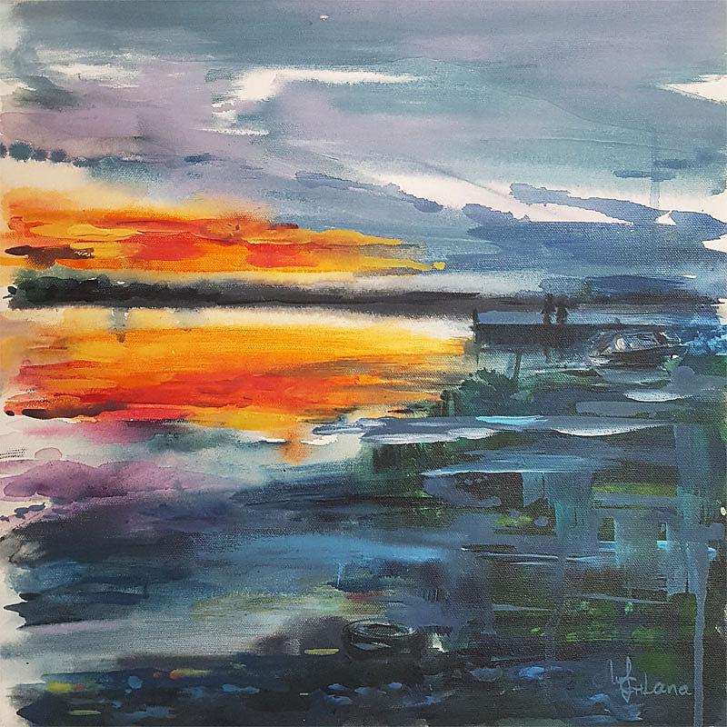 Sunset in Karlskrona-Bredavik brygga-by Svetlana leuchuk