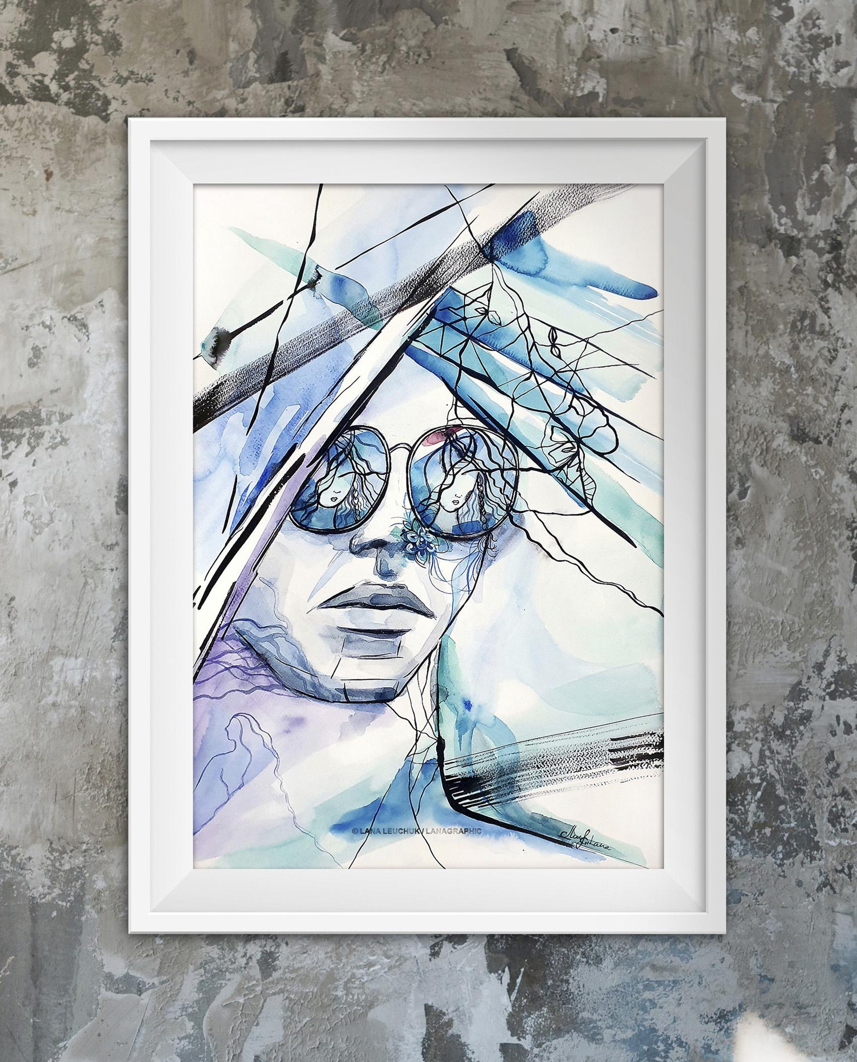 We just need a little-1-artwork by Svetlana Leuchuk-framed