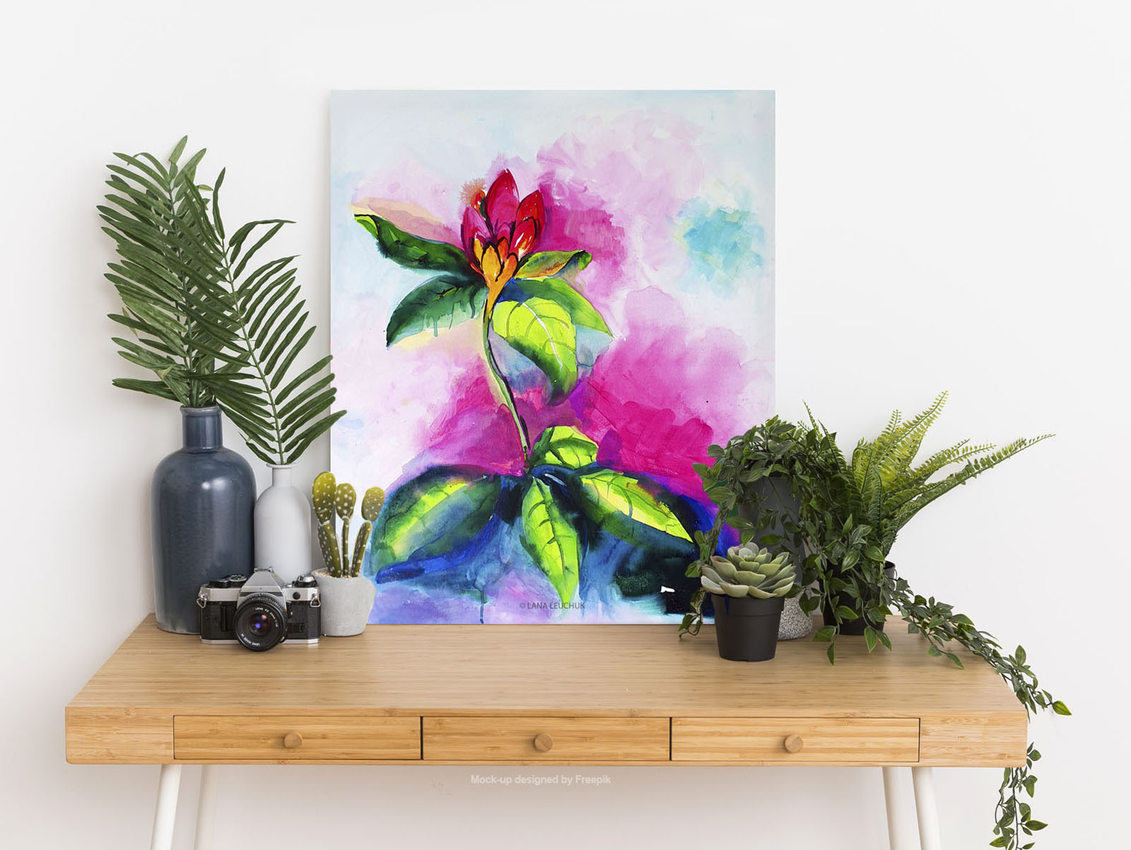 art-in-interior-the power of now-2-painting-by Lana Leuchuk-w
